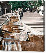 Panoramic View Of Stairs And Waterfall Canvas Print