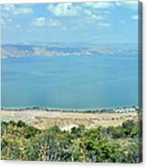 Panoramic View Of The Sea Of Galilee Canvas Print