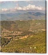 Panoramic View Of Umbrian Hills In Italy Taken From Preggio Canvas Print