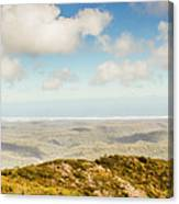 Panoramic Views From Mount Zeehan To Trial Harbour Canvas Print