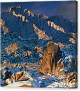Panoramic Winter In The Alabama Hills Eastern Sierras California Canvas Print