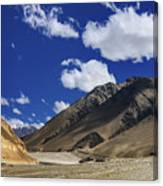 Panrama Of Mountains Ladakh Jammu And Kashmir India Canvas Print