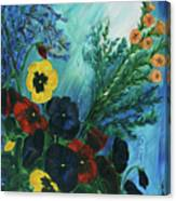 Pansies And Poise Canvas Print