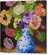 Pansies And Ranunculus Canvas Print
