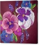 Pansy Grandeur Canvas Print