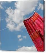 Pant Hanging On Washing Line Canvas Print