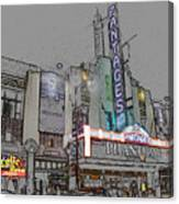 Pantages Theater Hollywood Canvas Print