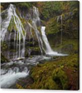 Panther Creek Falls In Autumn Canvas Print