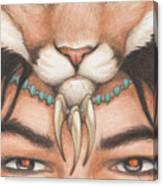 Panther Warrior Canvas Print