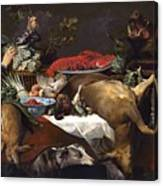 Pantry Scene With Servant By Frans Snyders Canvas Print