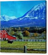 Paonia Mountain And Barn Canvas Print