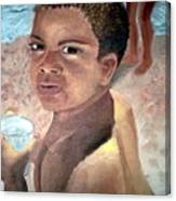 Papa At The Beach Canvas Print