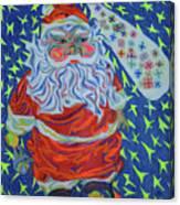 Papa Noel Des Etoilles Canvas Print