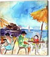 Papagayo Beach Bar In Lanzarote Canvas Print