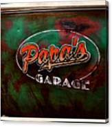 Papa's Garage Canvas Print