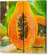 Papaya Dreaming Canvas Print