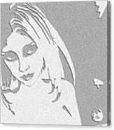 Paper Raven Canvas Print