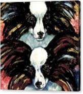 Papillon De Mardi Gras Canvas Print