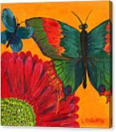 Papillon Jaune Canvas Print