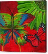 Papillon Rouge Canvas Print