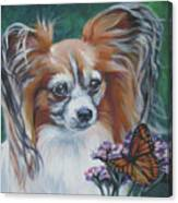 Papillon With Monarch Canvas Print