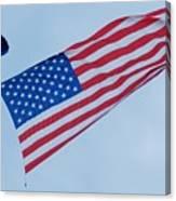 Parachute And Flag Canvas Print