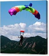 Parachuting Canvas Print