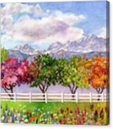 Parade Of The Seasons Canvas Print