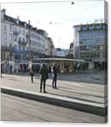 Paradeplatz - Bahnhofstrasse, Zurich Canvas Print