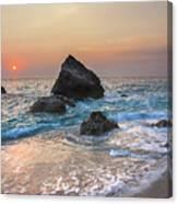 Paradise Beach Sunset Canvas Print