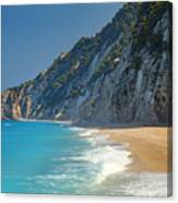 Paradise Beach With Blue Waters Canvas Print