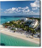 Paradise - Isla Mujeres - Playa Norte, Aerial Image Canvas Print