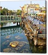 Paradise Pier At California Adventure Canvas Print