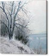 Paradise Point Bridge Winter Canvas Print