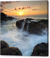 Paradise Sunset Splash Canvas Print