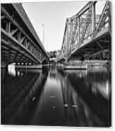 Parallel Bridge Canvas Print
