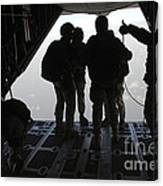 Pararescuemen Prepare For A Halo Jump Canvas Print