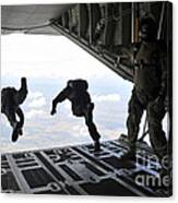 Paratroopers With The Spanish Military Canvas Print