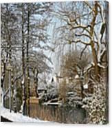 Walk In A Snowy Park Canvas Print