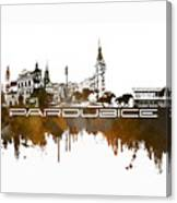 Pardubice Skyline City Brown Canvas Print
