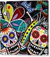 Pareja Dia De Los Muertos Canvas Print