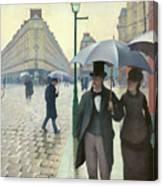 Paris A Rainy Day - Gustave Caillebotte Canvas Print