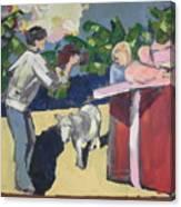 Paris And The Pony Canvas Print
