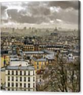 Paris As Seen From The Sacre-coeur Canvas Print