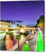 Paris At Night 16 Art Canvas Print