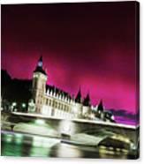 Paris At Night 18 Art Canvas Print