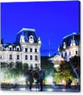 Paris At Night 21art Canvas Print