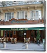 Paris Cafe Bistro Vivienne - Paris Cafes Bistro Restaurant-paris Cafe Galerie Vivienne Canvas Print