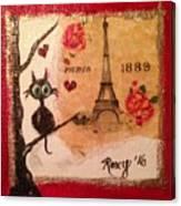 Paris Cat  Canvas Print