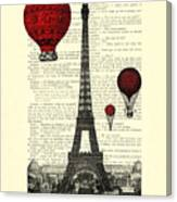 Paris, City Of Love Canvas Print